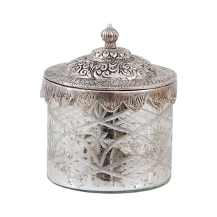 GLASS JAR SILVERLID SMALL