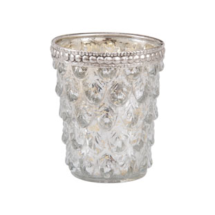 CANDLE HOLDER SILVER PINE