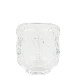 CANDLE HOLDER VISAGE SMALL CLEAR