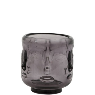 CANDLE HOLDER VISAGE SMALL GREY