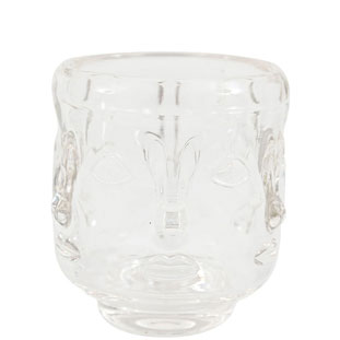 CANDLE HOLDER VISAGE LARGE CLEAR