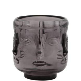 CANDLE HOLDER VISAGE LARGE GREY