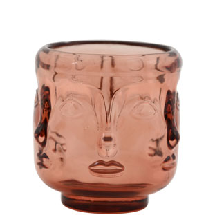 CANDLE HOLDER VISAGE BROWN LARGE