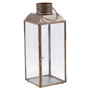 LANTERN AGED ANTIQUE LARGE