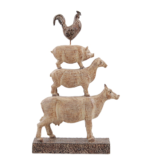 DECORATION ANIMAL PYRAMID
