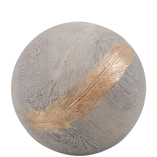 DECORATION BALL FEATHER L