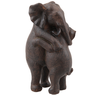 HUGGING ELEPHANTS DECORATION