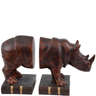 BOOKEND RILEY 2/SET BRONZE