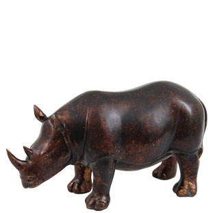 DECORATION RHINO BRONZE