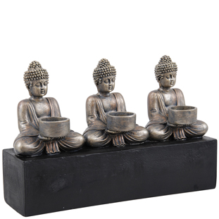 CANDLE HOLDER BUDDHA COPPER