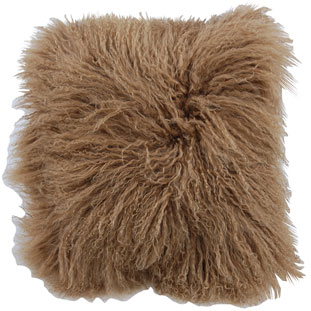 CUSHION COVER FURRY 40X40CM BROWN