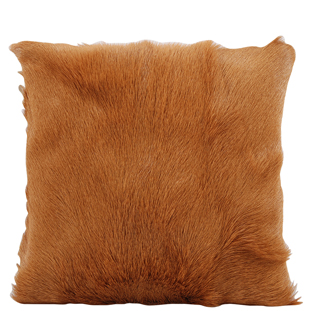 CUSHION COVER GOAT FUR 40X40CM LIGHT BROWN