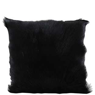 CUSHION COVER GOAT FUR 40X40CM BLACK