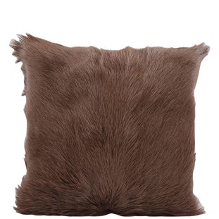 CUSHION COVER GOAT FUR 40X40CM DARK BROWN