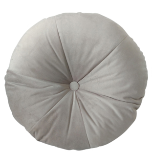 CUSHION ROUND VELVET DIA 50CM LIGHT GREY
