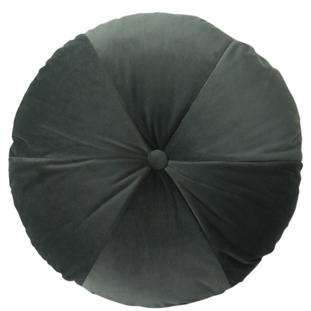 CUSHION ROUND VELVET DIA 50CM LIGHT GREEN