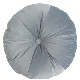 CUSHION ROUND VELVET DIA 50CM LIGHT BLUE