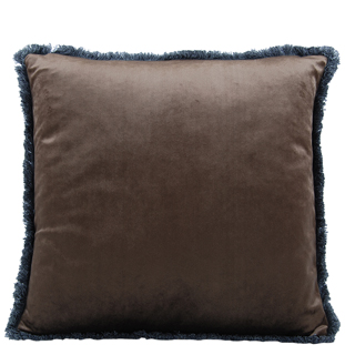 CUSHION COVER VERSAILLES  45X45CM DARK BROWN