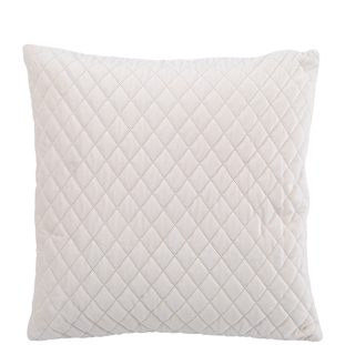 CUSHION COVER QUILTED VELVET 45X45CM CREAM