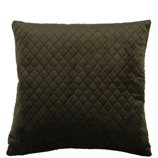 CUSHION COVER QUILTED VELVET 45X45CM MOSS GREEN