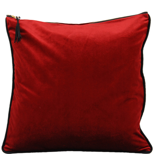 CUSHION COVER CHAMBORD 45X45CM RED