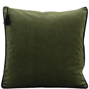 CUSHION COVER CHAMBORD 45X45 MOSS GREEN