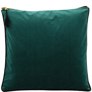 CUSHION COVER CHAMBORD 45X45 DARK GREEN