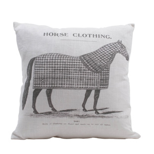 CUSHION COVER HORSE CLOTHING 45X45CM