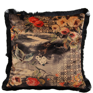 CUSHION COVER ROSE 45X45CM