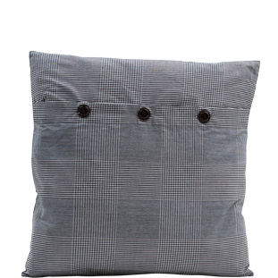 CUSHION COVER CHECKS/STRIPES 45X45