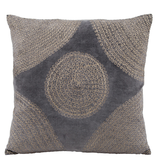 CUSHION COVER MINELLE 45X45 CHARCOLE