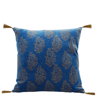 CUSHION COVER MIRANDA 45X45 BLUE
