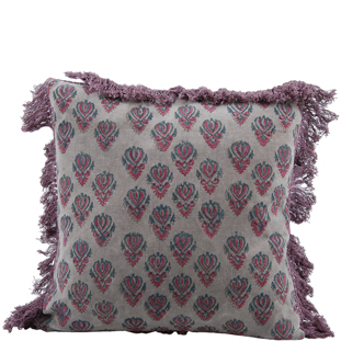 CUSHION COVER MINDY 45X45CM PURPLE/GREY
