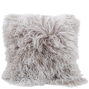 CUSHION COVER FURRY 40X40 S.O.T LIGHT GREY