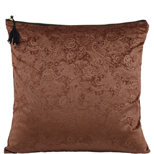 CUSHION COVER AZAY 45X45CM BROWN