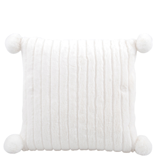 CUSHION COVER BENTLEY 45X45 WHITE