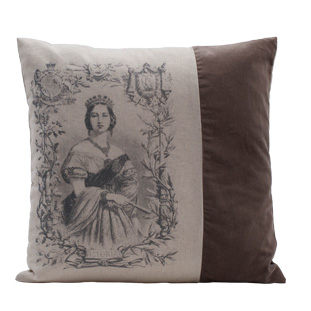 CUSHION COVER ELEONORA BEIGE/BRUN 45X45