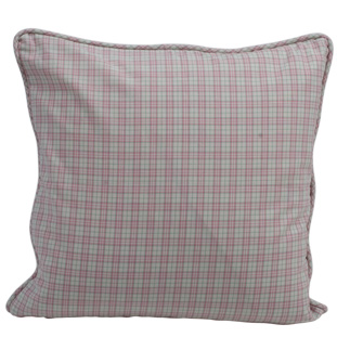 CUSHION COVER CHECK 45X45 ROSA