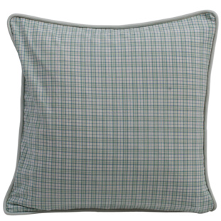 CUSHION COVER CHECK 45X45CM GREEN