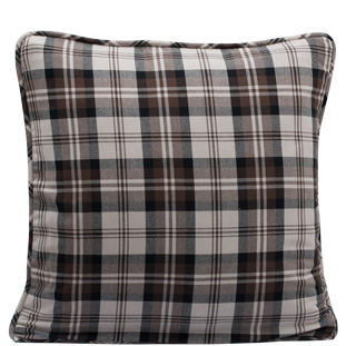 CUSHION COVER CHECK 45X45 BRUN