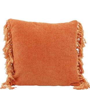 CUSHION COVER FRINGES 45X45CM ORANGE