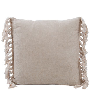 CUSHION COVER FRINGES 45X45CM TAUPE