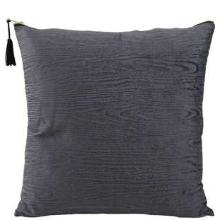 CUSHION COVER WOODY 45X45CM DARK GREY