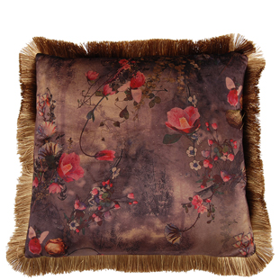 CUSHION COVER ROSIE WITH FRINGES 45X45CM