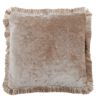 CUSHION COVER LONDON WITH FRINGES 45X45CM SAND