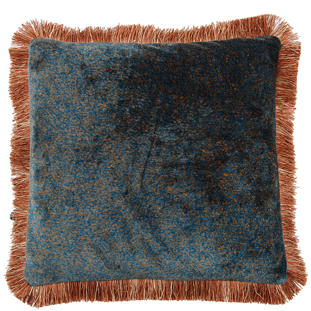 CUSHION COVER LONDON WITH FRINGES 45X45CM TURQUOISE