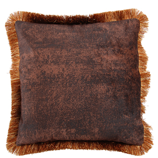 CUSHION COVER ASHBY 45X45CM BROWN