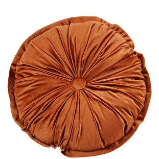 CUSHION ROUND CHESTER DIA 45CM RUST