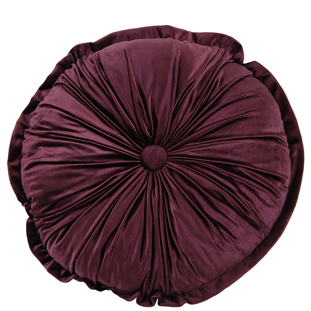 CUSHION ROUND CHESTER DIA 45CM PURPLE
