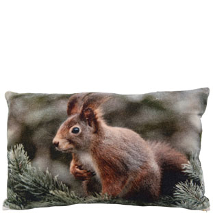 CUSHION COVER 30X50CM SQUIRREL